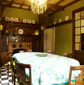 The dining-room and the kitchen